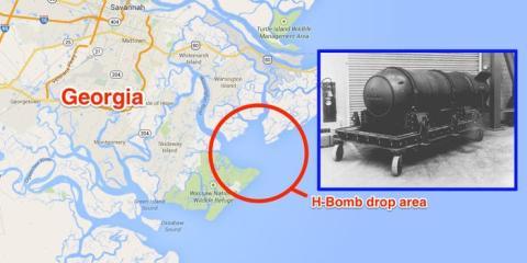 Fue arrojada al agua en las afueras de Savannah, Georgia, cerca de Wassaw Sound.