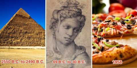 La apertura de la cadena está unos 500 años más cerca de la vida de Cleopatra que la construcción de las pirámides de Giza.