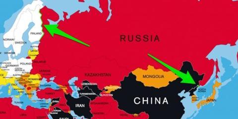 Rusia comparte frontera con los dos países.