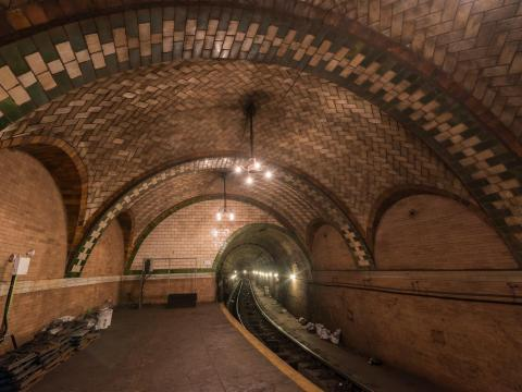 You can see City Hall station if you stay on the 6 train after its last stop.