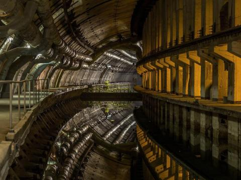 The once top-secret submarine base is now a museum.