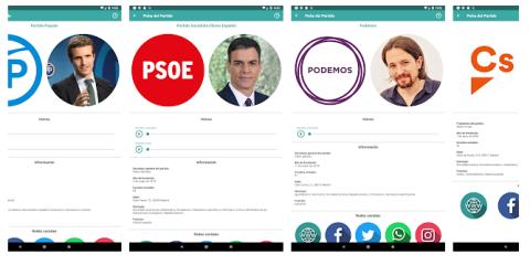 app Partidos Políticos españa
