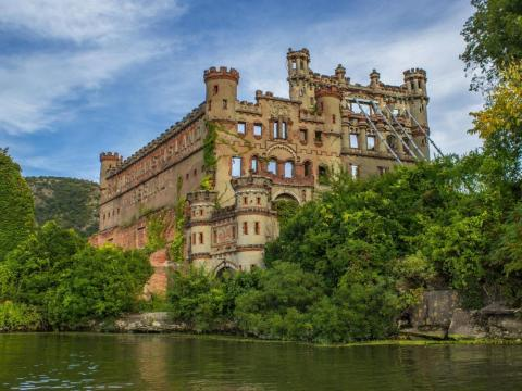 What remains of Bannerman Castle today.