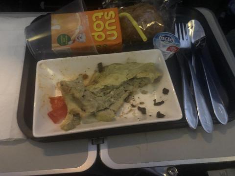 British Airways: tortilla