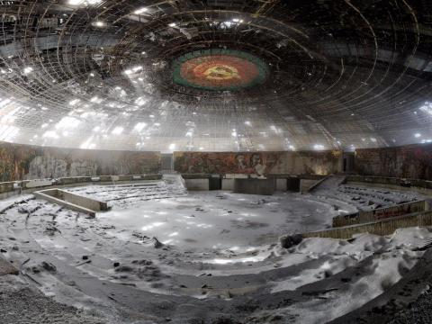 The Buzludzha Monument was once the House of the Bulgarian Communist Party.