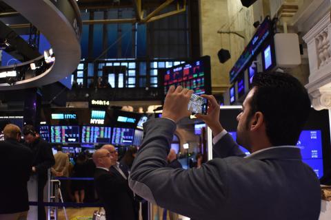 Cada rincón en Wall Street brinda la oportunidad de tomar una fotografía.