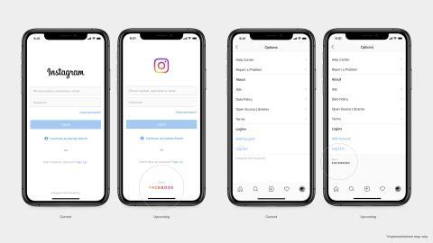 Cambio de logo de Facebook en Instagram