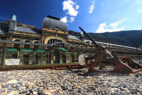 Canfranc was once the biggest train station in Europe upon opening in 1928.