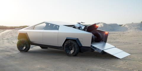 Capacidad de almacenamiento del Cybertruck de Tesla.