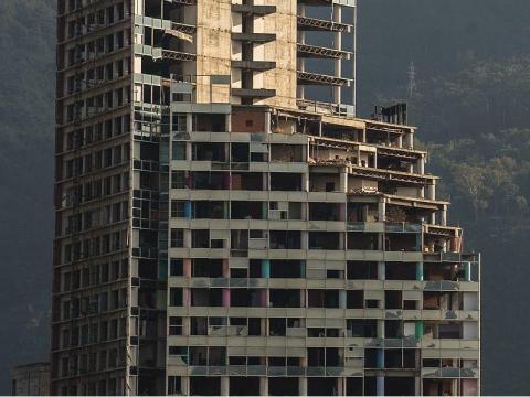 This skyscraper in Caracas remains unfinished.