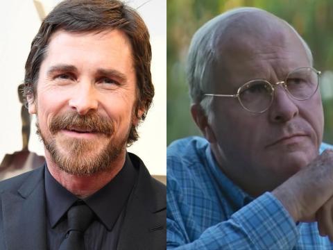 """Christian Bale en """"El vicio del poder""""."""
