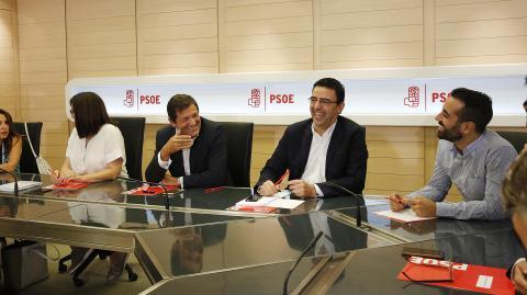 La Comisión Gestora después de dimitir Sánchez.
