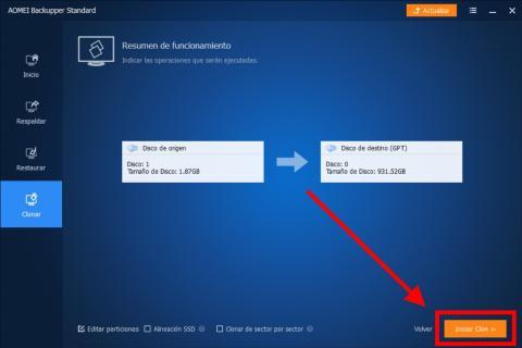 Cómo clonar un disco duro en Windows 10