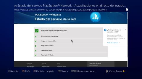Cómo comprobar el estado del servidor de PlayStation 4