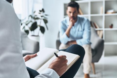 Consulta de un psicólogo