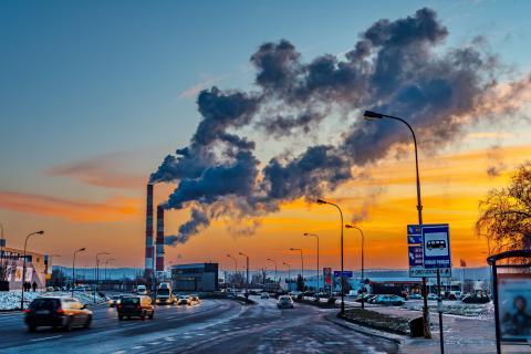 contaminación coches nieve