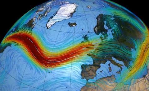 La corriente del Hemisferio Norte se encuentra en los 60º de latitud