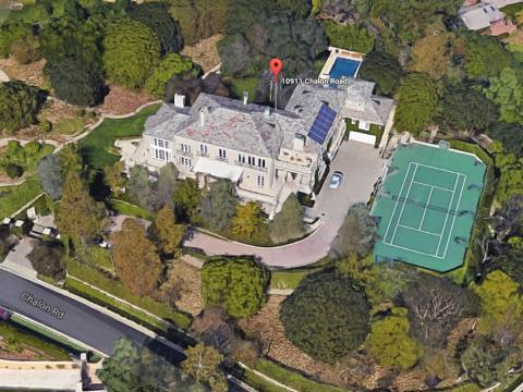 Detalle de la mansión de Elon Musk