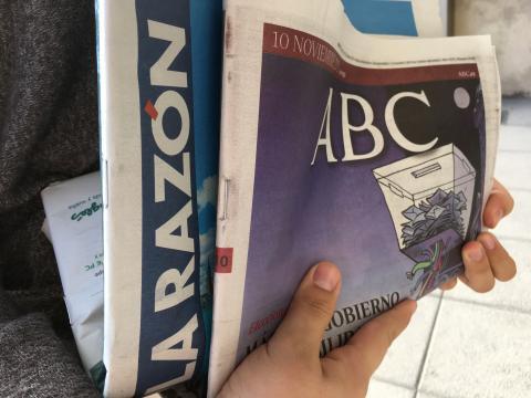 Diarios La Razón y ABC