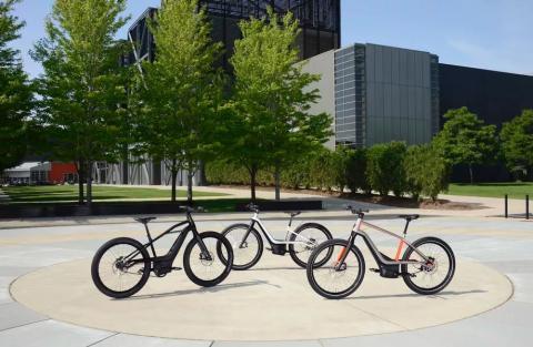 Los diferentes modelos de bicicletas eléctricas que producirá Harley-Davidson.