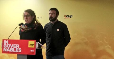 Diputados de la CUP en el Congreso.
