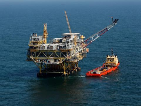 Plataforma petrolífera de aguas profundas en el Golfo de México.