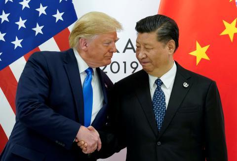 Donald Trump y Xi Jinping en la cumbre del G20 de Osaka.
