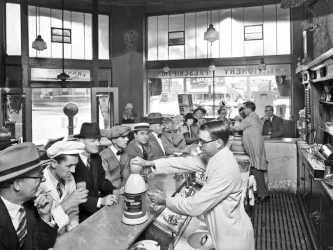 Frankfurt Pharmacy in Rosemead, California, in 1927.