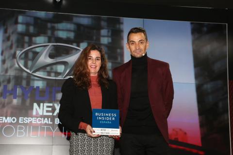 Elena Gris, directora de Marketing de Hyundia y Manuel del Campo, CEO de Axel Springer España
