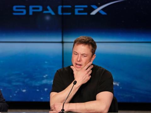 Elon Musk, en una conferencia de SpaceX