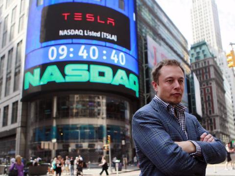 Elon Musk, frente al Nasdaq