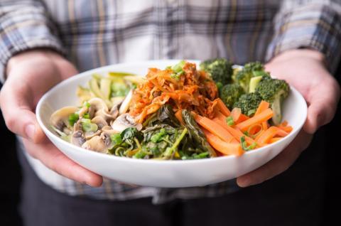 ensalada, vegetales, comida sana