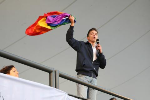 Errejón, en un acto electoral de Más Madrid.