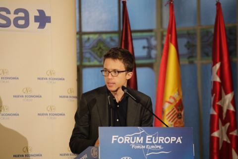 Errejón, durante una ponencia en el Forum Europa.