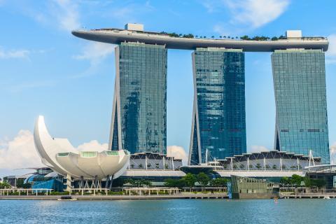 Escenario Detective Conan El puño del zafiro azul - Singapur