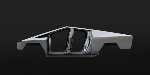 Carcasa del Cybertruck de Tesla.
