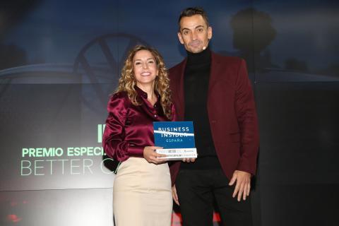 Eva Vicente, directora de comunicación de Volkswagen Group España Distribución y Manuel del Campo, CEO de Axel Springer España.