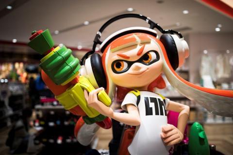 "Even ""Splatoon,"" Nintendo's newest video game series, has a statute at Nintendo Tokyo."