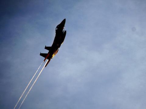 Los aviones del multimillonario Larry Ellison son más atípicos, ya que son dos aviones de combate militares.