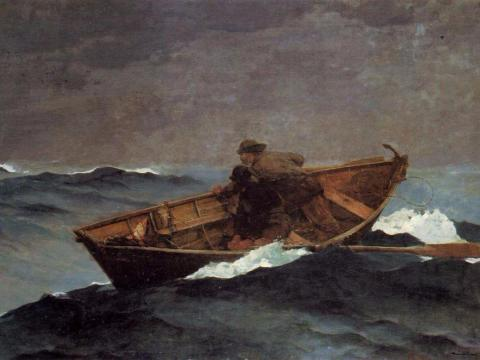 """""""Lost on the Grand Banks"""" de Winslow Homer."""