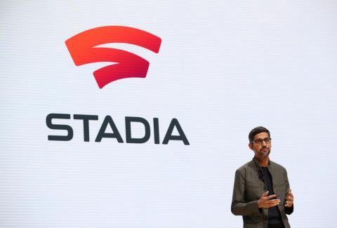 Google CEO Sundar Pichai introduced Google's first major gaming initiative, Stadia, at the 2019 Game Developers Conference in March 2019.