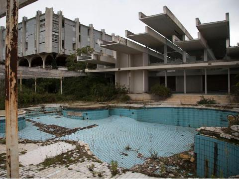The Haludovo Palace Hotel was a luxurious retreat on the Mediterranean Sea in the 1970s.