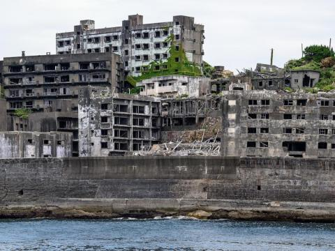 This ghostly abandoned island was used as the villain's lair in a James Bond movie.