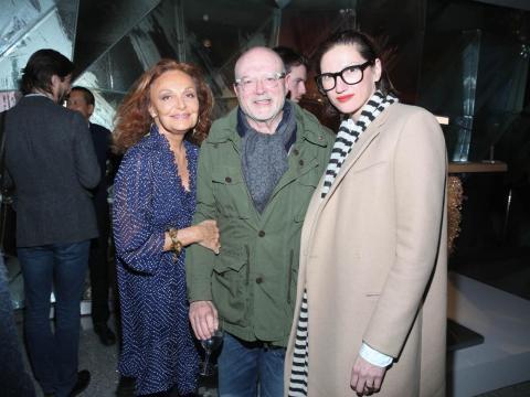 Mickey Drexler con Diane von Furstenberg y Jenna Lyons.
