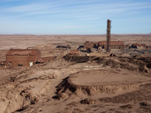 Humberstone was left so suddenly that it appears frozen in time.