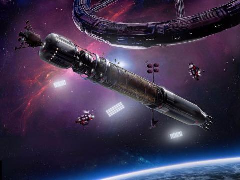 Una ilustración de los satélites de Asgardia.