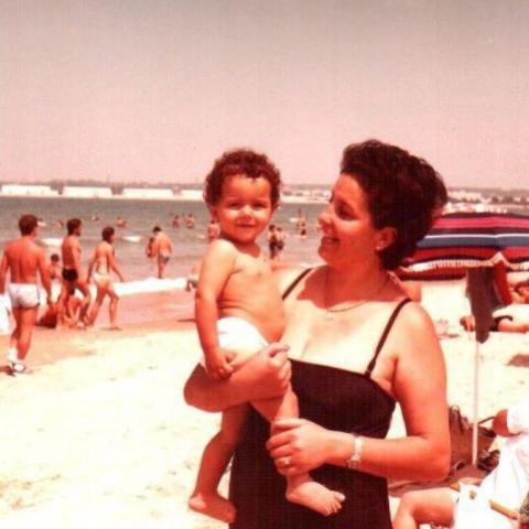 Inés Arrimadas, en una foto de la infancia.