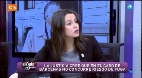 Inés Arrimadas, en una tertulia de Intereconomía.