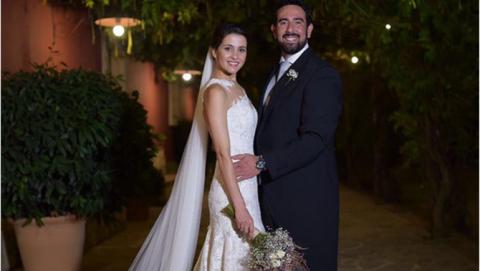 Inés Arrimadas y Xavier Cima, en su boda.