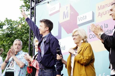 Íñigo Errejón con una chaqueta Harrington en el inicio de campaña electoral para las autonómicas.